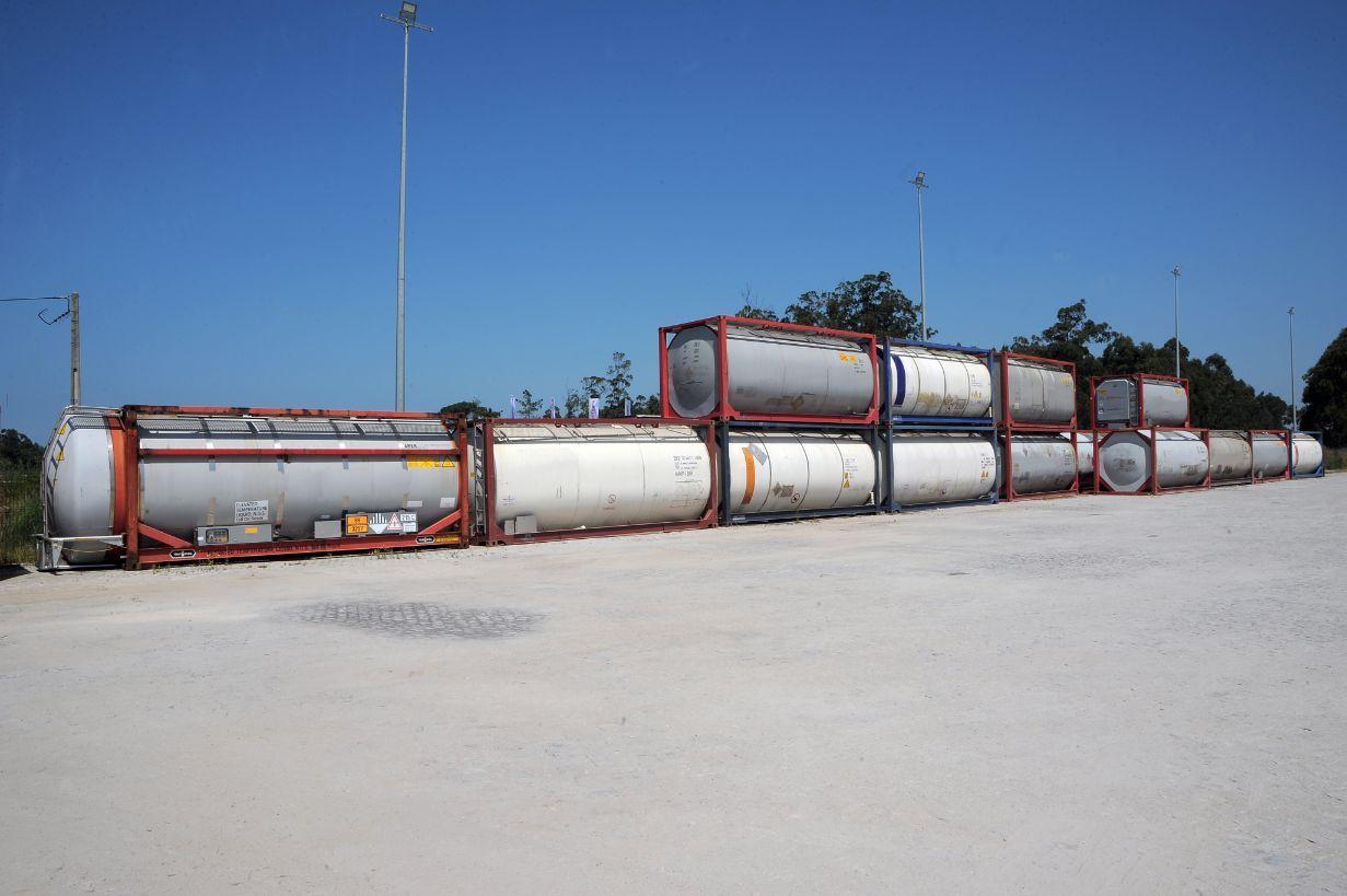tanques parqueados